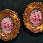 Two Roses Convex Glass Frame s Cameo Creation