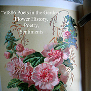 c1886 Poets in the Garden Book Horticulture Gardening Botanical Herb Flower Illustrated Chromo
