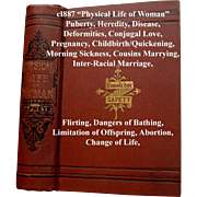 c1887 Physical Life of Woman Book Napheys Quack Medicine Love Marriage Childbirth Abortion ...