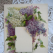 Antique Lilacs Print Chromolithograph Flower Print Lilac Floral