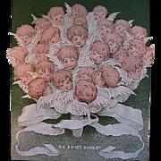 SOLD c1905 Cupid Roses Ladies Home Journal Magazine Cherub Corset Valentine Black Americana Ne