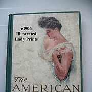 c1906 The American Girl First Edition Howard Chandler Christy Book Lady Print s Illustrated Br