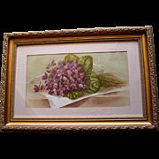 Antique Violets Print Paul de Longpre Victorian Violet Flower Floral Half Yard Long ...