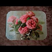SOLD c1894 Roses Print Paul de Longpre Chromolithograph A Bunch of Roses Antique