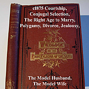 c1875 Wedlock Marriage Book The Right Relations of the Sexes Fowler Who May and May Not Marry