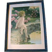 Vintage Besse Pease Gutmann Cupid Print The Butterfly