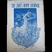 Antique Ladies Home Journal Magazine Fairy Art Nouveau Fashion Print Cottage Decor