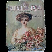Blushing Rose Lady Roses Sheet Music Print
