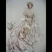 Victorian Bride Print Harrison Fisher