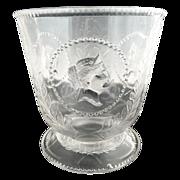 EAPG antique glass sugar Medallion Atterbury