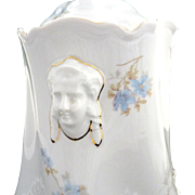 Antique biscuit jar with figural handles Worcester pattern Hermann Ohme