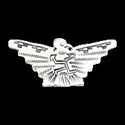 Native American silver eagle brooch Navajo hand wrought