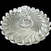 Fostoria Colony glass tray center handle