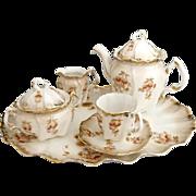 Antique fine porcelain tea set petit de jeurner Austria c. 1880s