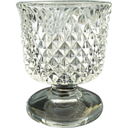 Antique glass toothpick holder Fostoria  #444 Czarina c. 1894