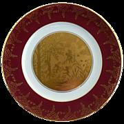 Vintage gold portrait plate Shakespeare's Mid Summer Nights Dream c. 1947