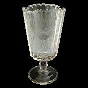 Antique glass celery vase moss rose c. 1890