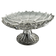 Antique glass compote Church Windows c. 1903