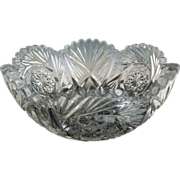 Vintage glass bowl by Heisey
