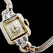 Vintage Gruen watch diamonds c. 1948