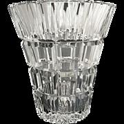 Mid century modern cut glass vase