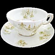 Fine porcelain mustache cup from Haviland Limoges c. 1903