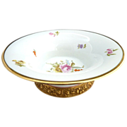 Rosenthal pedestal bowl gold repousse base c. 1900