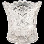 Indiana Glass toothpick holder Gaelic pattern c. 1908