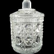 Daisy and Button glass jar sugar jam mid-century