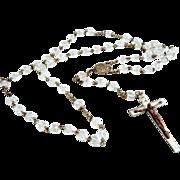 Vintage Austrian crystal rosary copper crucifix