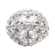 Coro cocktail ring Austrian rhinestones Vendome