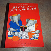 SALE Book Babar and His Children Jean De Brunhoff