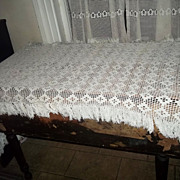 SALE Vintage Crochet Table Piano Runner