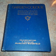 SALE Garden Colour Book Sketches Notes by Margaret Waterfield