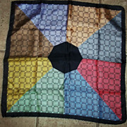 Geometric Nine Color All Silk Italy Ashear Men's Handkerchief