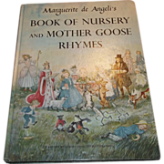 SALE Book of Nursery and Mother Goose Rhymes Marguerite de Angeli's