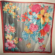 Oh So Pretty Bright and Cheerful Floral Scarf