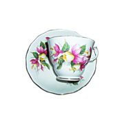 Royal Vale Bone China Tea Cup Saucer Set Bleeding Hearts Floral