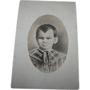 SALE Creepy Old Postcard Real Photo Style  of Hand Drawn Charcoal Child