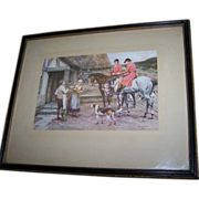 Vintage Framed Wall Art Print Signed Frank Dadd 1924