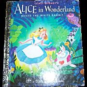 Walt Disney;s Alice In Wonderland Children's Book Golden Press