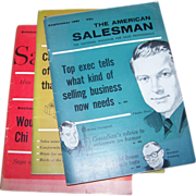 3 Booklets Magazines  The American Salesman C. 1960-61