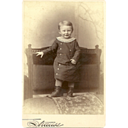 SALE Charming CDV Carte De Visite Little Boy In Outfit