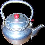 SOLD Charming Vintage Aluminum Metal Ware Teapot Strainer