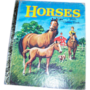 Children's Book Horses A Little Golden Book #202-2