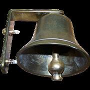 Vintage Brass Door or Wall Mount Bell