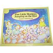 """Booklet Soft Bound Book """" Five Little Monkeys Jumping on the Bed """""""