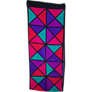 SALE Brightly Colored Geometric Print Ladies Rectangular Scarf