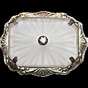 SALE Lovely Vintage Art Deco Era Camphor Glass Pin  Brooch