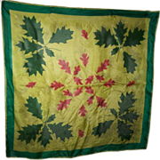 A Delicate Vintage Silk Scarf By Vera Leaf  Leaves Pattern